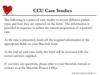 CCU Case Studies