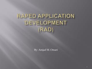 Raped Application Development RAD