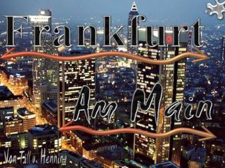 Geographische Lage Frankfurts