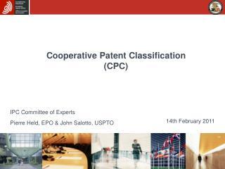 Cooperative Patent Classification  CPC