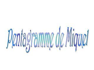 Pentagramme de Miquel