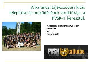 A baranyai tájékozódási futás   felépítése és működésének struktúrája, a PVSK-n  keresztül.