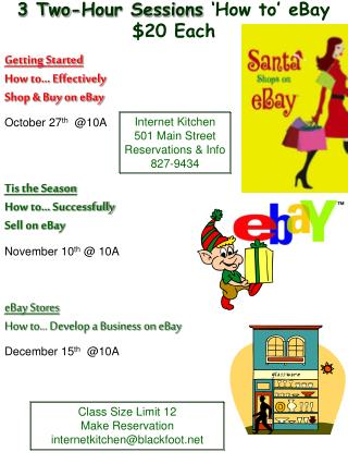 Getting Started How to… Effectively  Shop & Buy on eBay October 27 th   @10A Tis the Season