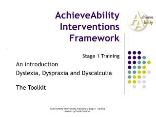 AchieveAbility Interventions Framework