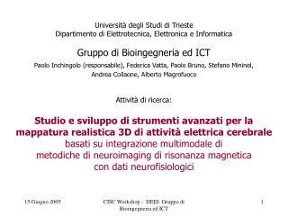 Università degli Studi di Trieste Dipartimento di Elettrotecnica, Elettronica e Informatica