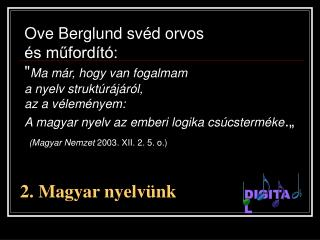 2. Magyar nyelv ünk