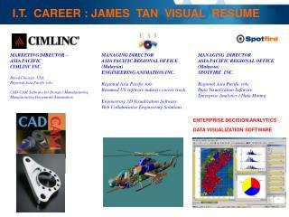 I.T.  CAREER : JAMES  TAN  VISUAL  RESUME