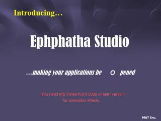 Ephphatha Studio