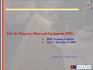 IAS 16: Property, Plant and Equipment PPE
