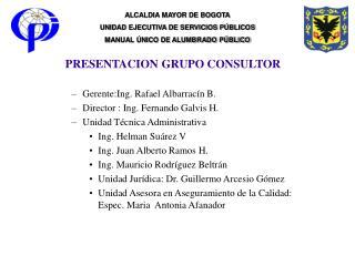 PRESENTACION GRUPO CONSULTOR