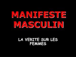 MANIFESTE  MASCULIN