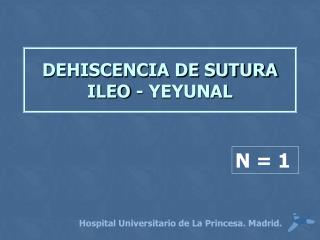 DEHISCENCIA DE SUTURA ILEO - YEYUNAL