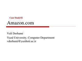 Case Study#2 Amazon