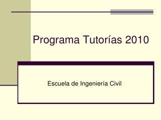 Programa Tutor�as 2010