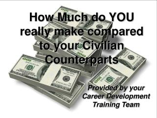 How Much do YOU really make compared to your Civilian Counterparts