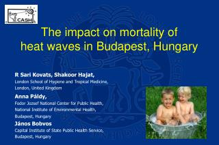 The impact on mortality of  heat waves in Budapest, Hungary