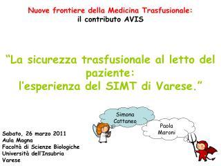 Nuove frontiere della Medicina Trasfusionale: il contributo AVIS