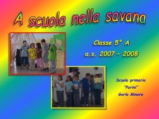 A scuola nella savana