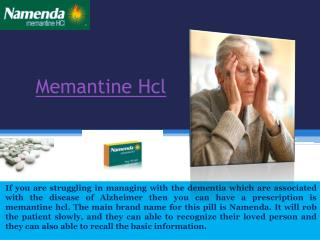 Buy Memantine Online