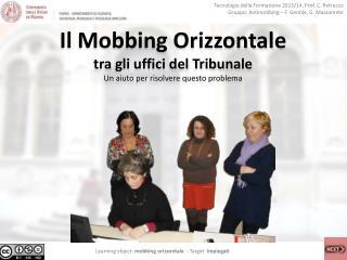 Tecnologie della Formazione 2013/14, Prof. C.  Petrucco