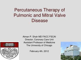 Percutaneous Therapy of Pulmonic and Mitral Valve Disease