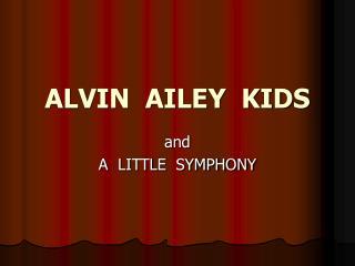 ALVIN  AILEY  KIDS