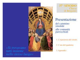 Il 37° Sinodo diocesano