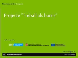 """Projecte """"Treball als barris"""""""