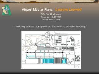 Airport Master Plans -  Lessons Learned
