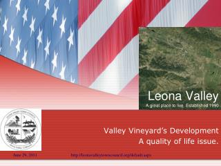 Leona Valley A great place to live. Established 1990