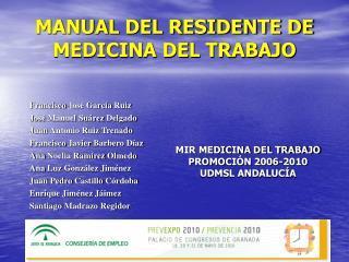 MANUAL DEL RESIDENTE DE MEDICINA DEL TRABAJO