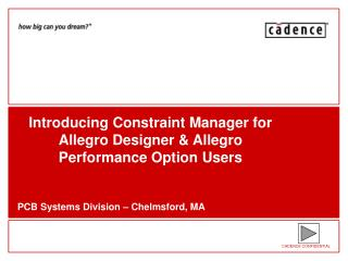 Introducing Constraint Manager for Allegro Designer & Allegro Performance Option Users