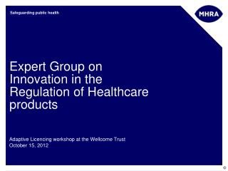 Expert Group on Innovation in the Regulation of Healthcare products