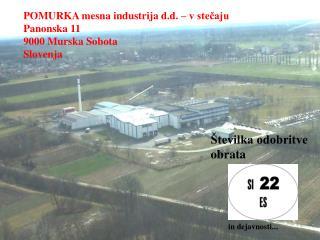 POMURKA mesna industrija d.d. – v stečaju Panonska 11 9000 Murska Sobota Slovenja