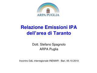 Relazione Emissioni IPA  dell'area di Taranto