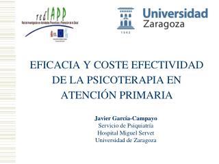 EFICACIA Y COSTE EFECTIVIDAD DE LA PSICOTERAPIA EN ATENCIÓN PRIMARIA