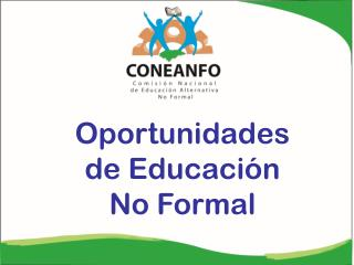 Oportunidades de Educación No Formal