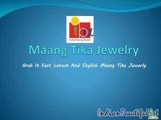 Designer Maang Tika Jewelry