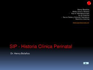 SIP - Historia Clínica Perinatal