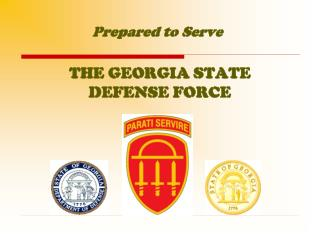 THE GEORGIA STATE DEFENSE FORCE
