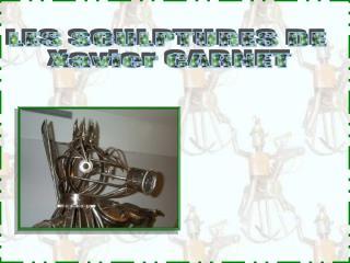 LES SCULPTURES DE  Xavier CARNET