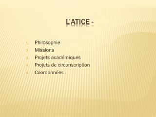 L'ATICE -