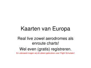 Kaarten van Europa