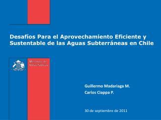 Desafíos Para el Aprovechamiento Eficiente y Sustentable de las Aguas Subterráneas en Chile