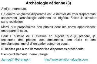 Archéologie aérienne (3) Ami(e) Internaute,