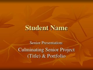 Student Name