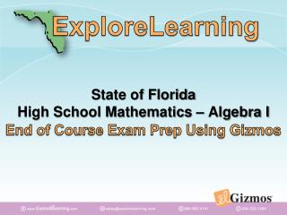 State of Florida High School Mathematics – Algebra I