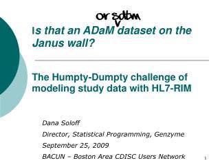 Dana Soloff Director, Statistical Programming, Genzyme September 25, 2009