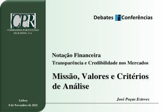 Missão, Valores e Critérios de Análise