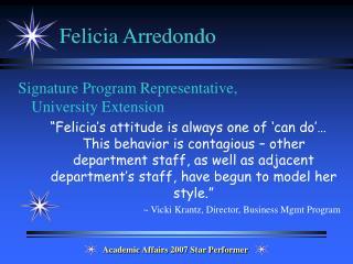 Felicia Arredondo